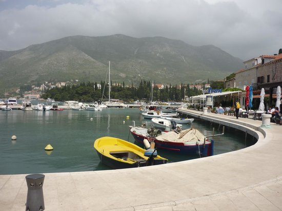 Ivan Restaurant : A view across the harbour to the restaurant frontage