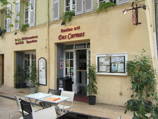 restaurant des carmes avignon restaurant reviews phone number photos tripadvisor. Black Bedroom Furniture Sets. Home Design Ideas