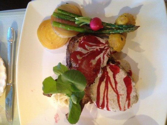The Secret Garden Cafe : Raspberry Roasted Pork Tenderloin w/Portabella Tarragon Cream