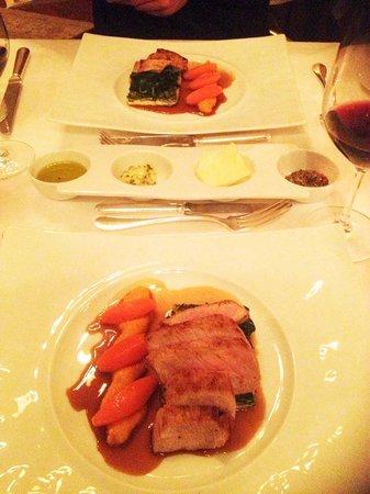 Restaurant Le Ciel d'Or : veau sur flan d'épinard