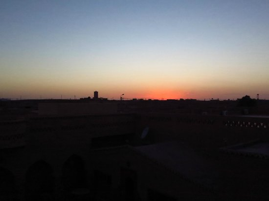 Riad Mamouche: Sunset from the rooftop terrace