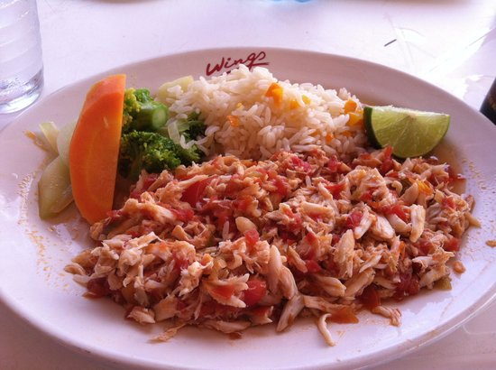 """Restaurante Los Pampanos: Blue crab, served """"Mexican style"""""""