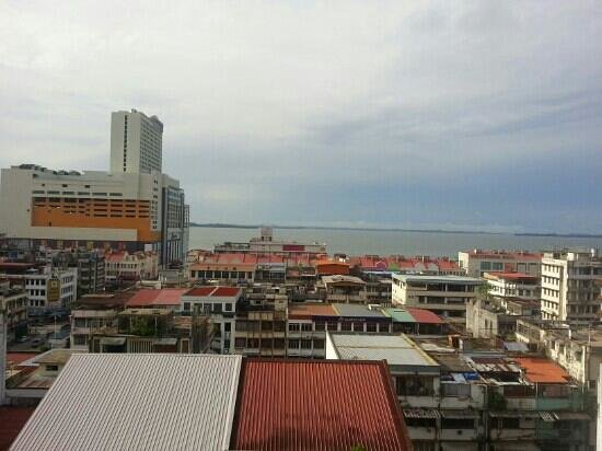 Hotel Sandakan : view from the room