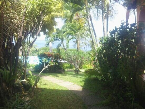 Hotel Au 'Ti Sucrier: vue de la terrasse du studio