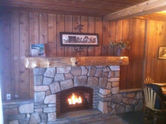 Barothy Lodge: Fireplace Log Cabin