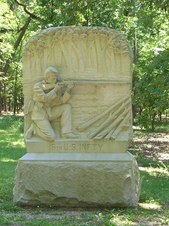 Chickamauga Battlefield: The memorial to the 16th U.S. INFTY