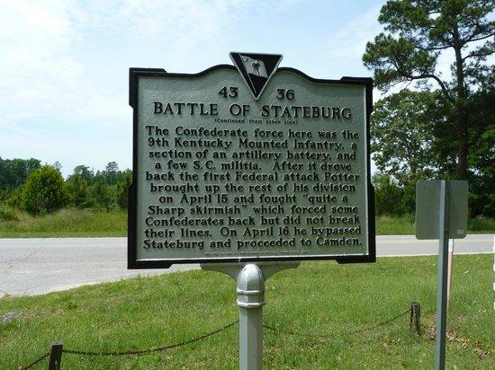 Battle of Dingle Mill Marker: roadside marker