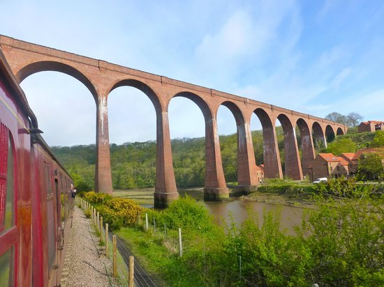 North Yorkshire Moors Railway: Larpool Viaduct near Whitby