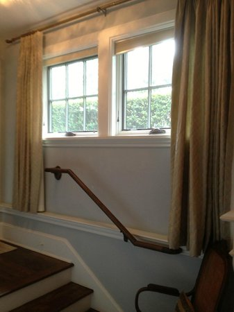 Black Walnut Bed and Breakfast Inn : Windows from inside the Camellia