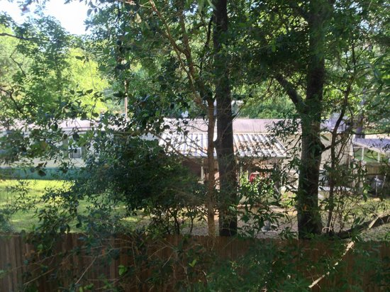 Holiday Inn Express Jacksonville East: View from our room, some trees to block but could see right into their trailer home.