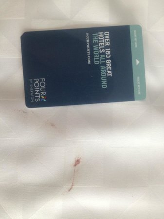 Four Points by Sheraton Miami Beach: Blood on bed spread