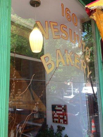Bird Bath Bakery: Name on the Window