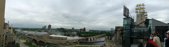 Mill City Museum: The view at the end of the Flour Tower ride
