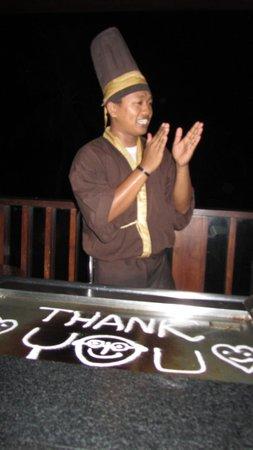 Yuyake Teppanyaki at Legian Beach: Thank you
