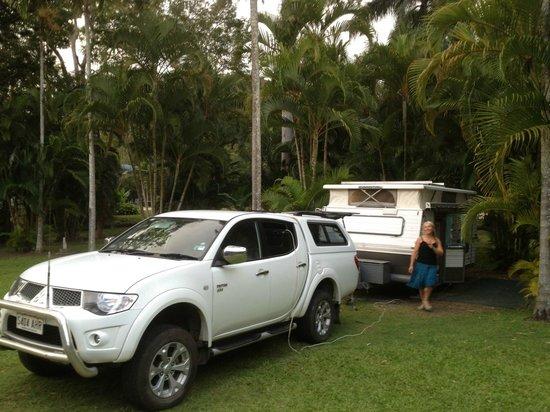 Flametree Tourist Village: Good caravan site