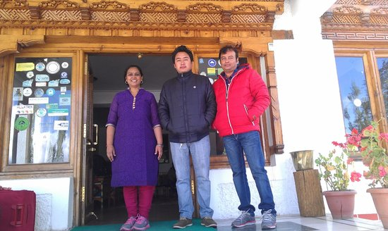 Hotel Holiday Ladakh: With hotel representative  Mr Wangdu