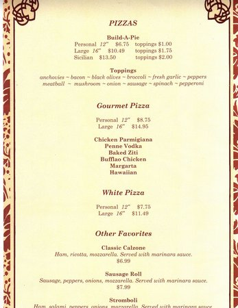 Mediterraneo Restaurant and Pizza: menu6