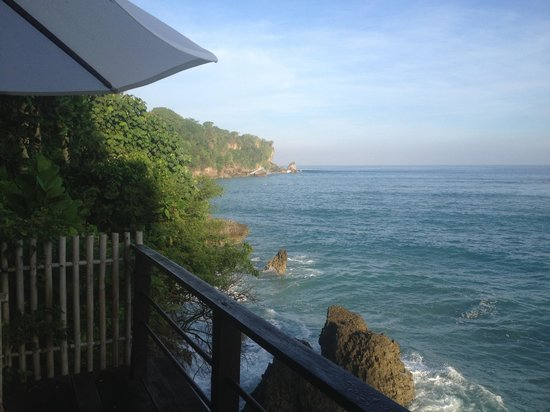 "Le Sabot Bali / Beach Front Bungalows Padang Padang : View from the verandah of ""the studio"""