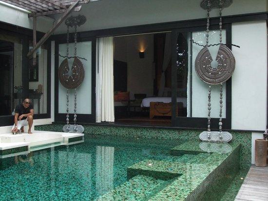 Anantara Mai Khao Phuket Villas: View from private pool loking into bed and living area of villa
