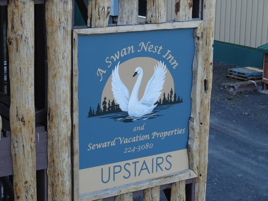 A Swan Nest Inn: The entrance is around to one side and up some stairs.