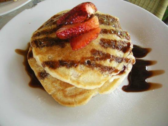La Buena Vida Hotel- Ayampe: Delicioso el desayuno con pancakes