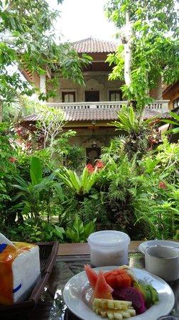 Karang Mesari Ubud Bungalow : Vista dal terrazzo