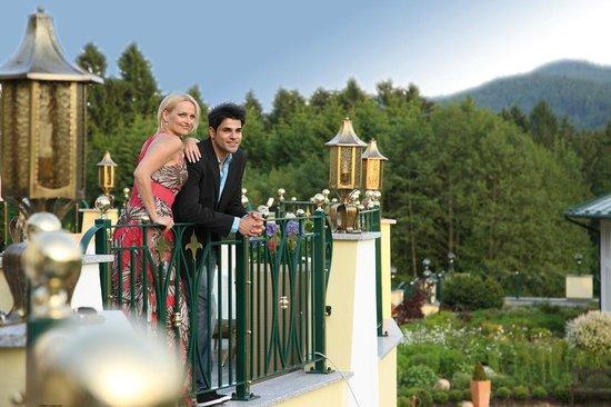 Hotel Mooshof: Blick in den Garten