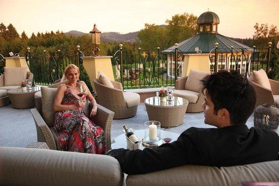 Hotel Mooshof: Terrasse