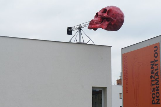 DOX Centre for Contemporary Art: Outside of DOX Center in Prague