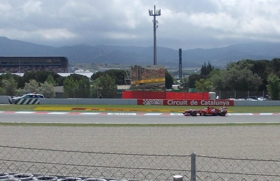 Circuit de Barcelona-Catalunya: On the fastest corner with a big screen in front of you