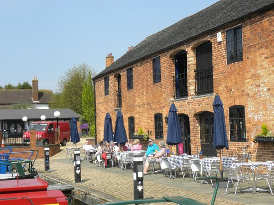Waterfront Restaurant and Bar: Outside the Waterfront - the sun is shining at last!