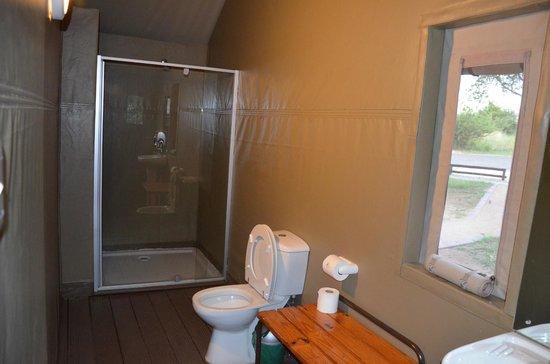 Lower Sabie Restcamp: Das Bad im Zelt