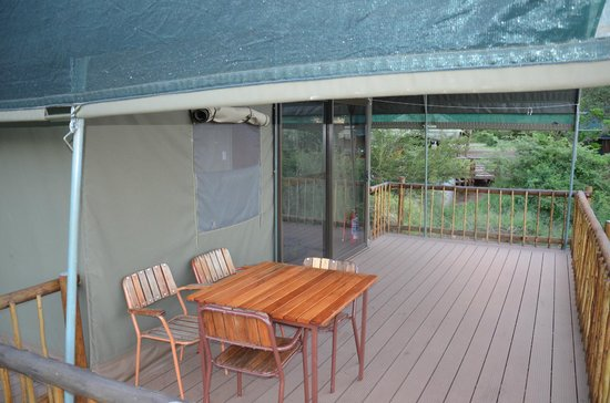 Lower Sabie Restcamp: Balkon über Fluss