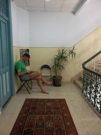 The Jerusalem Little Hotel: Wifi is available in most rooms.  Sometimes you have to sit in the passage to get the signal.
