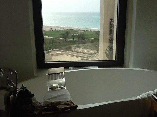 The St. Regis Saadiyat Island Resort: Lovely view from the bath!