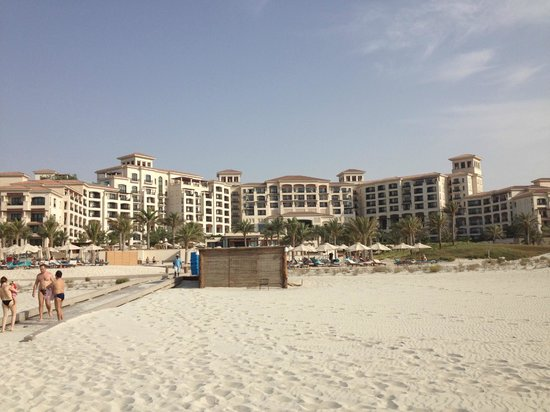 The St. Regis Saadiyat Island Resort: View of the hotel from the beach