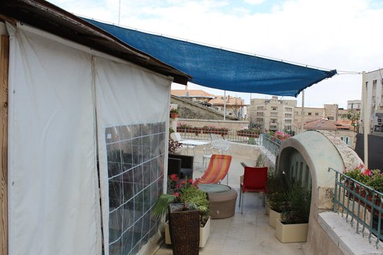 The Jerusalem Little Hotel: The roof of the hotel