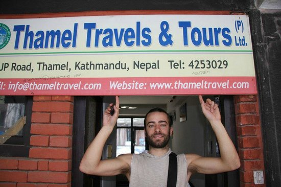 Thamel Travels and Tours: Jocopo at office
