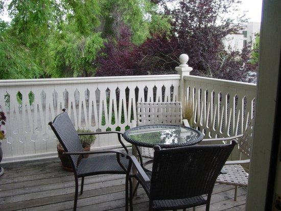 Healdsburg Inn - A Four Sisters Inn : Studio King private patio
