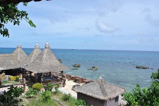 D.D. Hut Bungalows & Restaurant : View from our bungalow
