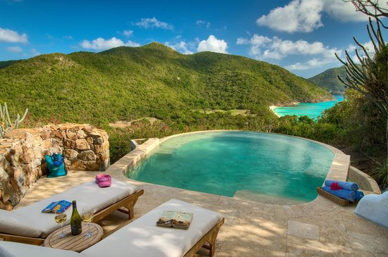 Guana Island: Our Sea View Pool Cottage