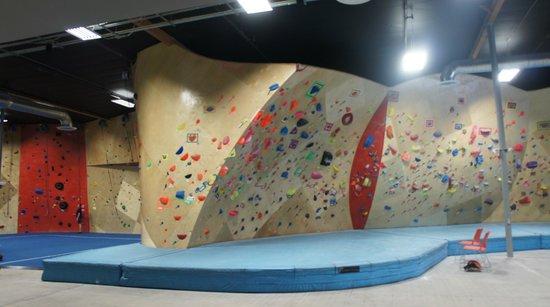 The BLOC climbing + fitness: The beginner area.