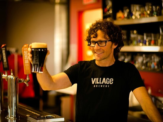 Village Brewery: Raising a pint to community in our tasting room.