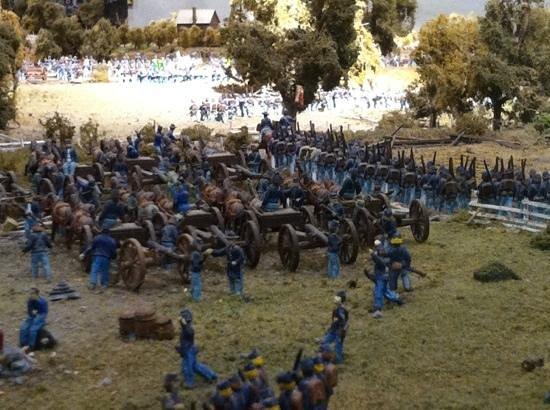 Gettysburg Diorama: behind union lines