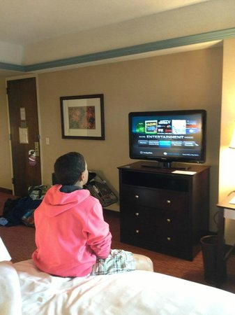 Crowne Plaza Pittsfield: My son liked the tv