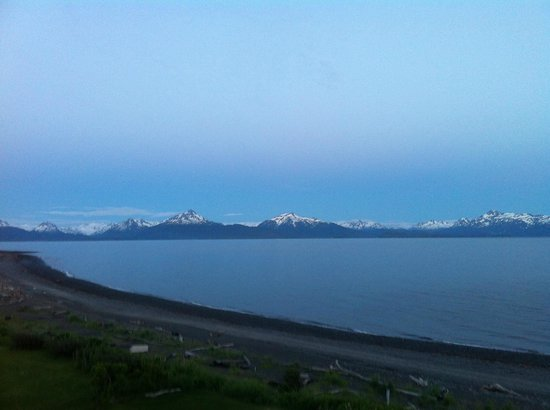 Driftwood Inn & Homer Seaside Lodges : View from outside Bluffview lodge
