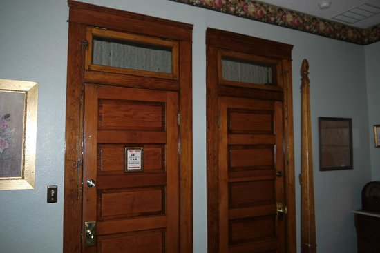 The Historic Occidental Hotel & Saloon and The Virginian Restaurant: Tramson over door.