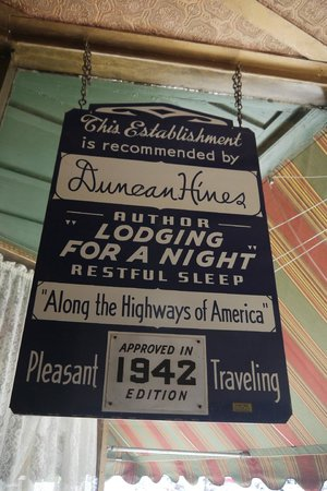 The Historic Occidental Hotel & Saloon and The Virginian Restaurant: Antique sign