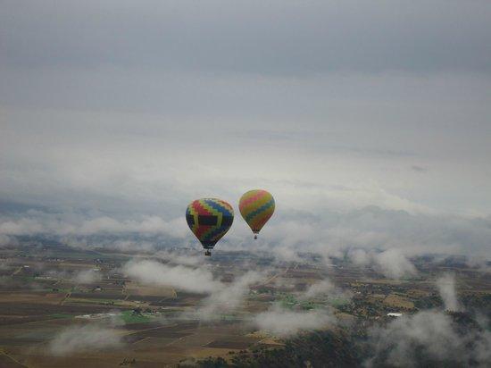 Vuelos en Globo Mx : En prespectiva de otros globos desde el aire