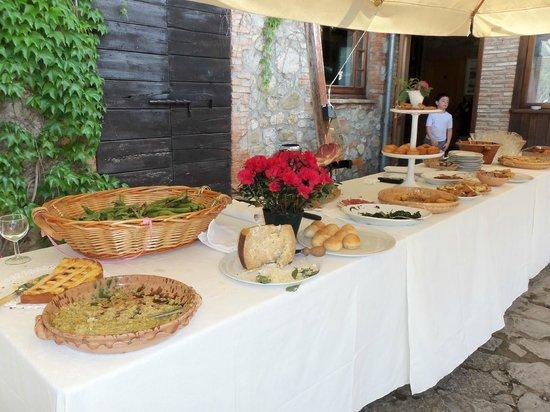 La Casella, Eco Resort : Buffet table